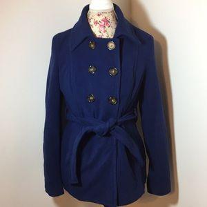 Old navy brand woman's medium pea coat navy blue